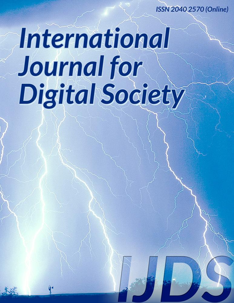 International Journal of Digital Society (IJDS) - Infonomics Society